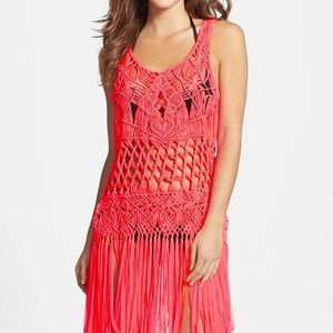 NWT Nanette Lenore macrame cover up, Size M/L